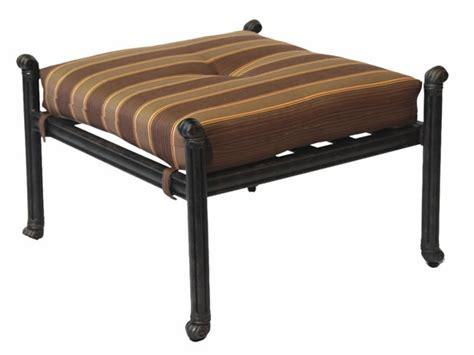 patio furniture seating ottoman cast aluminum dwl