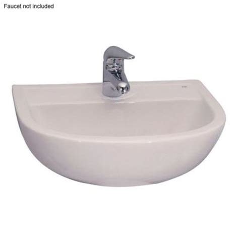 compact wall mounted bathroom sink in white