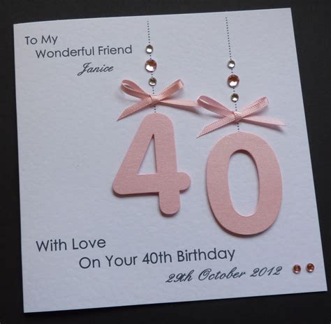 40th Birthday Decorations Ebay by Handmade Personalised 30th 40th 50th 18th 21st Any Age