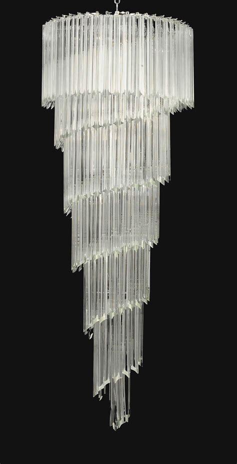 venetian glass spiral chandelier modern