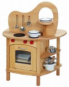 Gluckskafer holz spielkuche mit aufsatz in braun for Holz spielküche