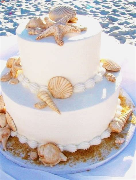 Top 16 Beach Theme Party Wedding Cakes ? Beauty & Unique Ceremony Day Idea   Bored Fast Food