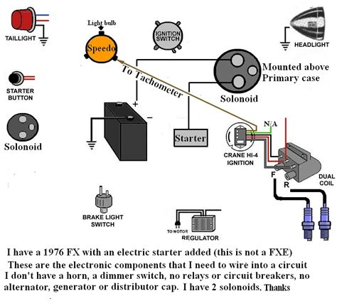 Harley Davidson Point Ignition Wiring Diagram by I Am Trying To Wire My 1976 Harley Fx With An Electric