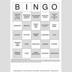 Relay For Life Bingo Cards To Download, Print And Customize