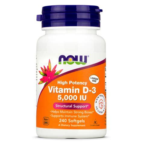 Now Foods - Vitamin D3 5000 IU - TRU·FIT