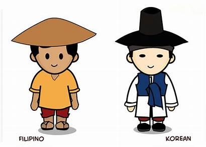 Filipino Korean Differences Culture Pinoy Costume Kulturang