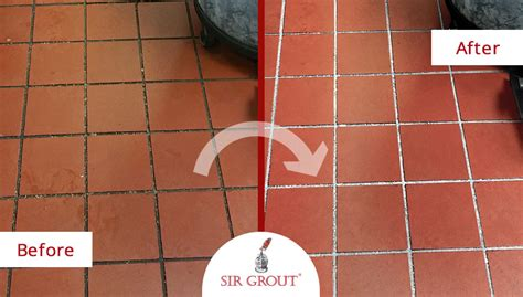 Regrouting Kitchen Tile Floor by Commercial Kitchen Quarry Tile Cleaning Sealing