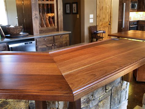 Custom Wood Countertop Options  Joints For Multisection Tops