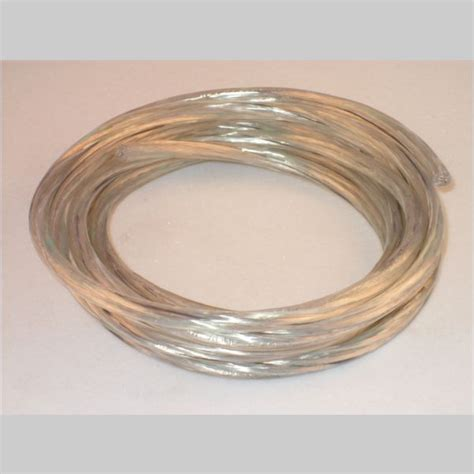 clear silver l cord 10 39 coil clear silver 18 3 svt pendant cord kirks lane