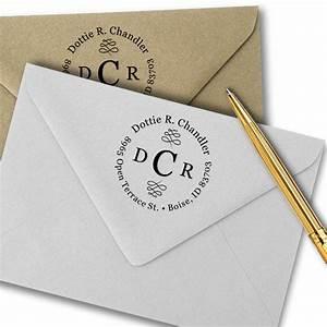 chandler 3 letter monogram address stamp simply stamps With letter address stamp