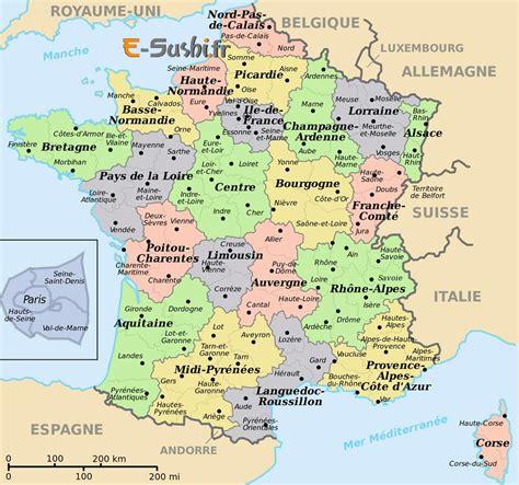 Carte De Avec Villes Principales by Infos Sur Carte De La Avec Ses Villes Principales