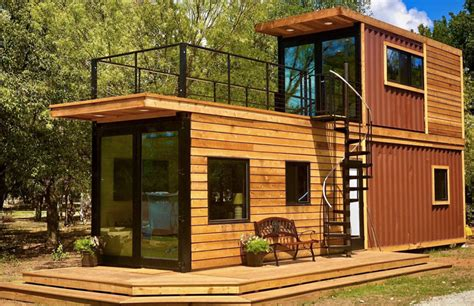 texas tiny home     shipping containers
