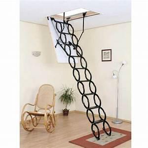 Echelle Escamotable Pour Grenier : echelle escamotable accord on en acier escaliers ~ Melissatoandfro.com Idées de Décoration