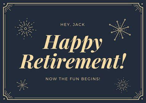 customize  retirement card templates  canva