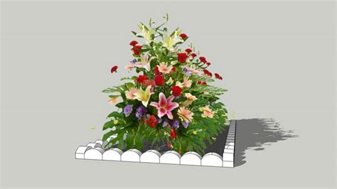 sketchup components  warehouse flowers sketchup
