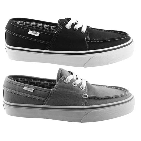 Vans Hull Boat Shoes by Vans Hull Casual Canvas Boat Shoes Skate Sneaker Mens