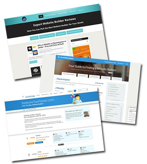 Top Website Template Builders by The Best Website Builder For You Web Eminence