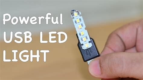 how to make a powerful usb led light at home