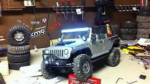 2012 Scx 10 Jeep Rubicon With 33 Led Light Kit And