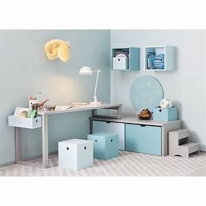 Espace bureau d39enfants avec rangement design par asoral for Rangement chambre d enfant