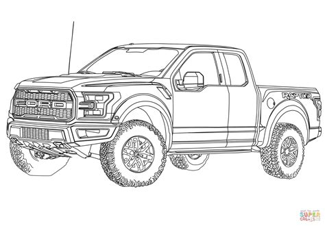 Quickly Pickup Truck Coloring Pages 2017 Ford F 150 Raptor