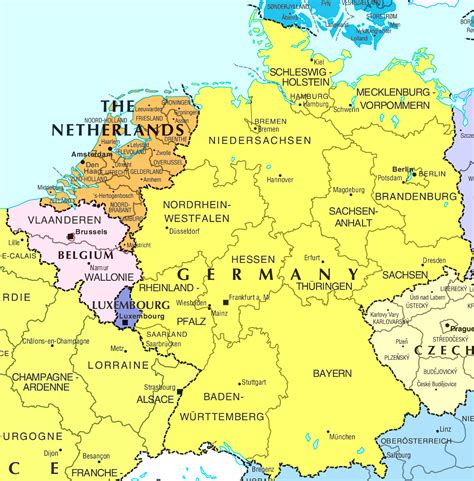 france germany map  travel information