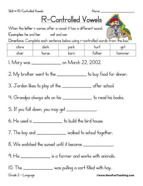 r controlled vowels worksheets homeschooldressage com