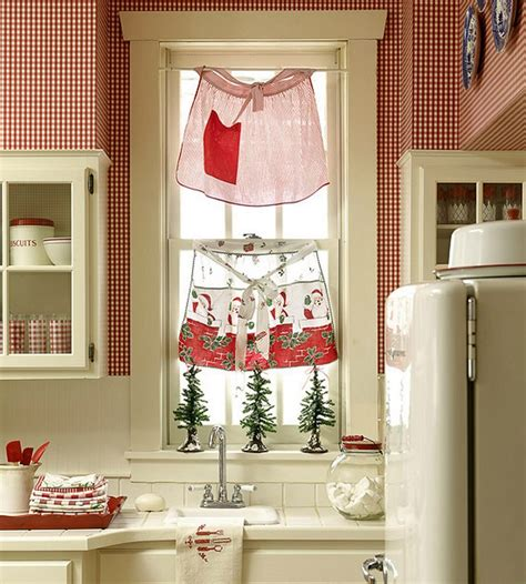 country kitchen curtains 23 ways to decorate your kitchen for the holidays