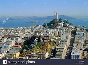 Coit Tower on Telegraph Hill, San Francisco, California ...