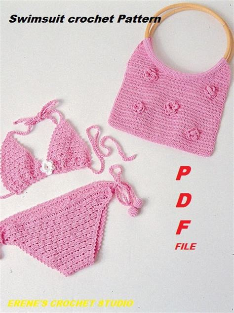 crochet swimsuit pattern  girl     erenacrochetstudio