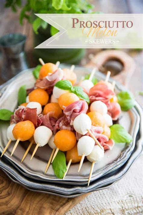 prosciutto melon skewers  healthy foodie