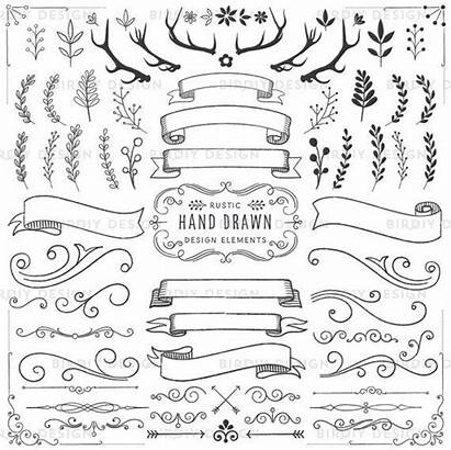 Rustic Clipart Boho Banner Vector Banners Woodland