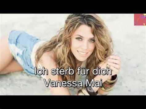 [hit Song]vanessa Mai  Ich Sterb Für Dich[lyric] Youtube