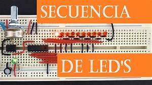 Secuencia De Leds   Ne555   4017