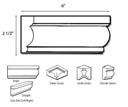 chair rail pieces bathroom moldings ceramics and tile