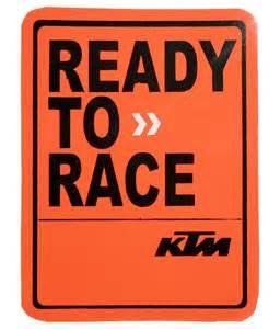 Ready to Race KTM Sticker