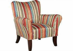 Painterly Stripe Accent Chair - Accent Chairs (Red)