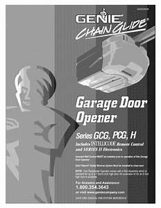 Genie Garage Door Opener Owners Manual