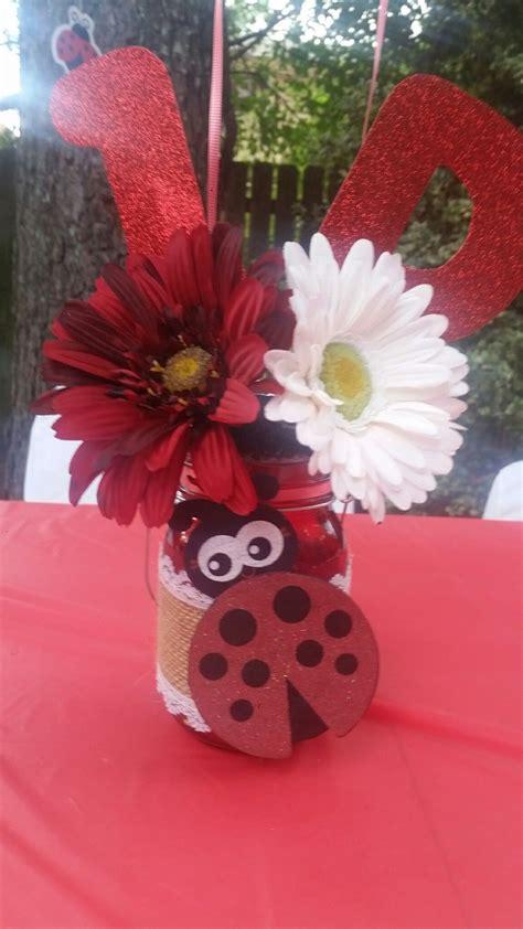 Ladybug Birthday Party Ideas Red Ladybug Centerpiece