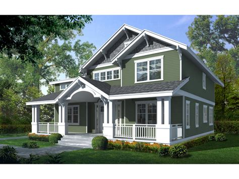 Home Plans With Front Porch by Craftsman Bungalow House Two Story Craftsman House Plan