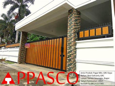pagar rumah minimalis motif kayu grc jual kanopi tralis