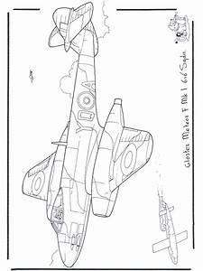 Gloster Meteor Malvorlagen Flugzeuge