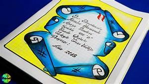 Pergamino Para Caratula Como Dibujar Carátula Pergamino 2018 Carátulas Youtube