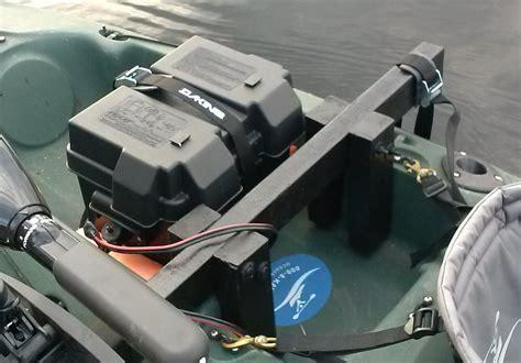 kayak motor mount trolling fishing battery homemade box nerd motorized custom down weebly