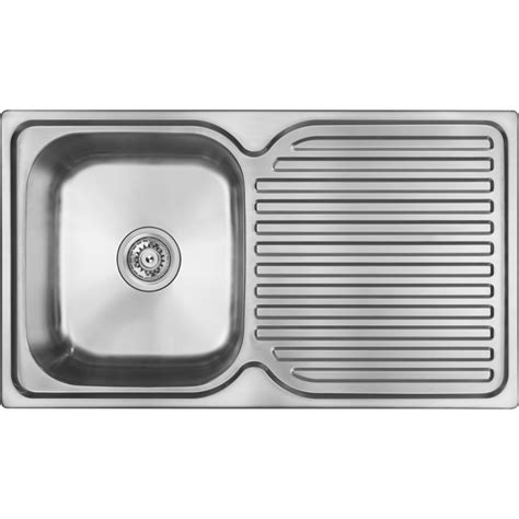 single bowl kitchen sink with drainer abey single bowl single drainer stainless steel sink rh 9306