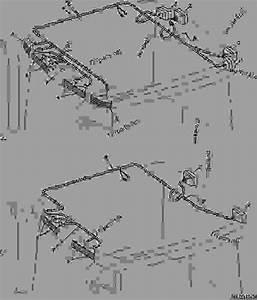 Wiring Harness  Roof Lights  - Tractor John Deere 7810 - Tractor