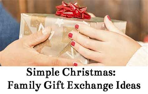 simple christmas family gift exchange ideas lil moo