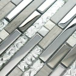 11 sheets lot glass tile mosaic kitchen backsplash silver