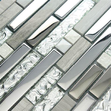tile sheets for kitchen backsplash 11 sheets lot glass tile mosaic kitchen backsplash silver