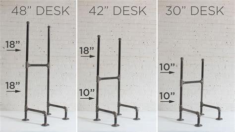 iron pipe desk plans diy plumbers pipe standing desk
